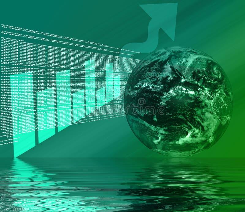 WWW - 3D Bezinning van Internet stock illustratie