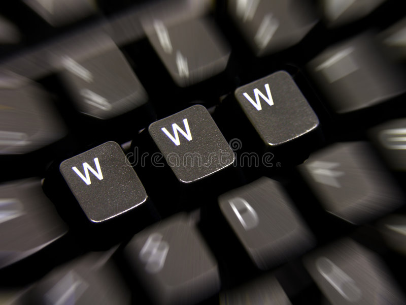 WWW. A photo of a keyboard with WWW keys