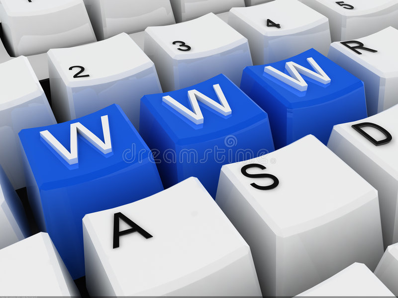 Download Www stock illustration. Image of provider, keyboard, interconnected - 6264675