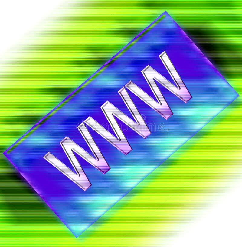 WWW 9 stock afbeelding