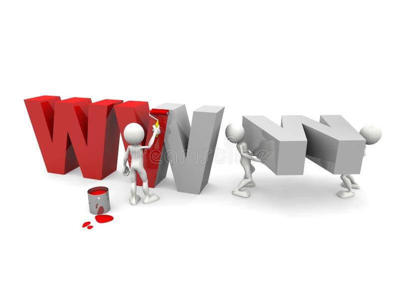 WWW in aanbouw vector illustratie