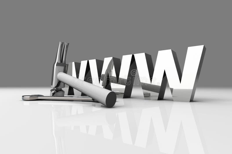 WWW - in aanbouw royalty-vrije illustratie