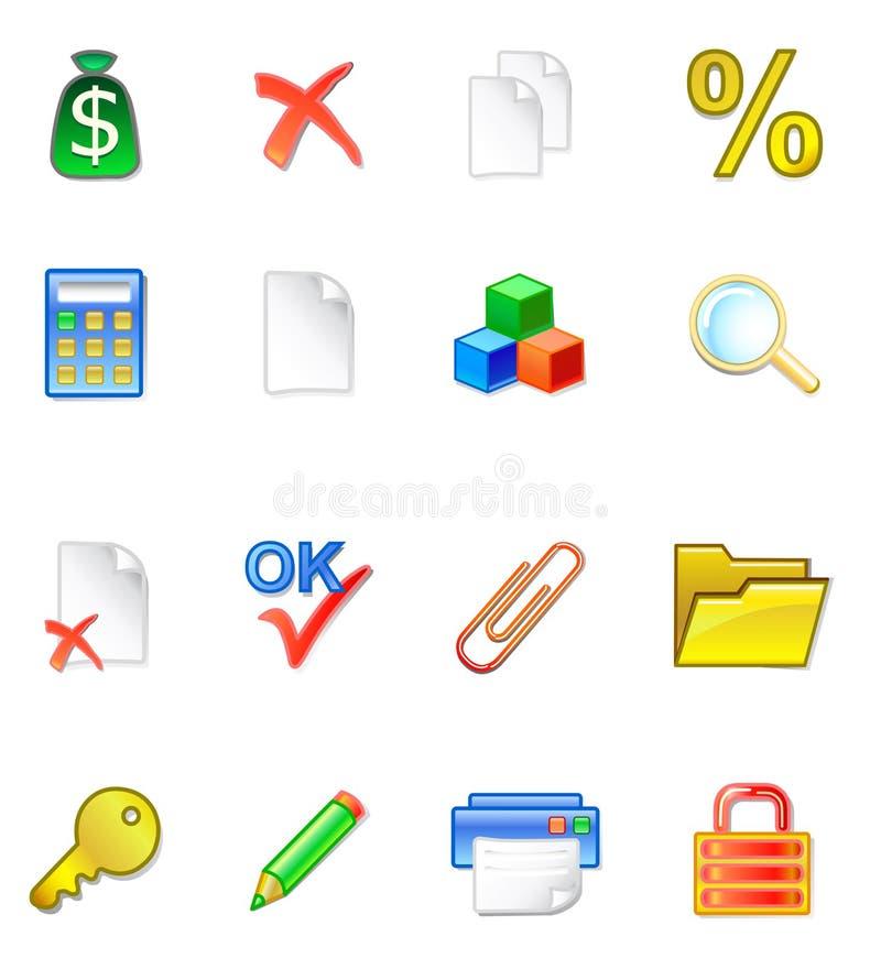 WWW accountant icons stock illustration