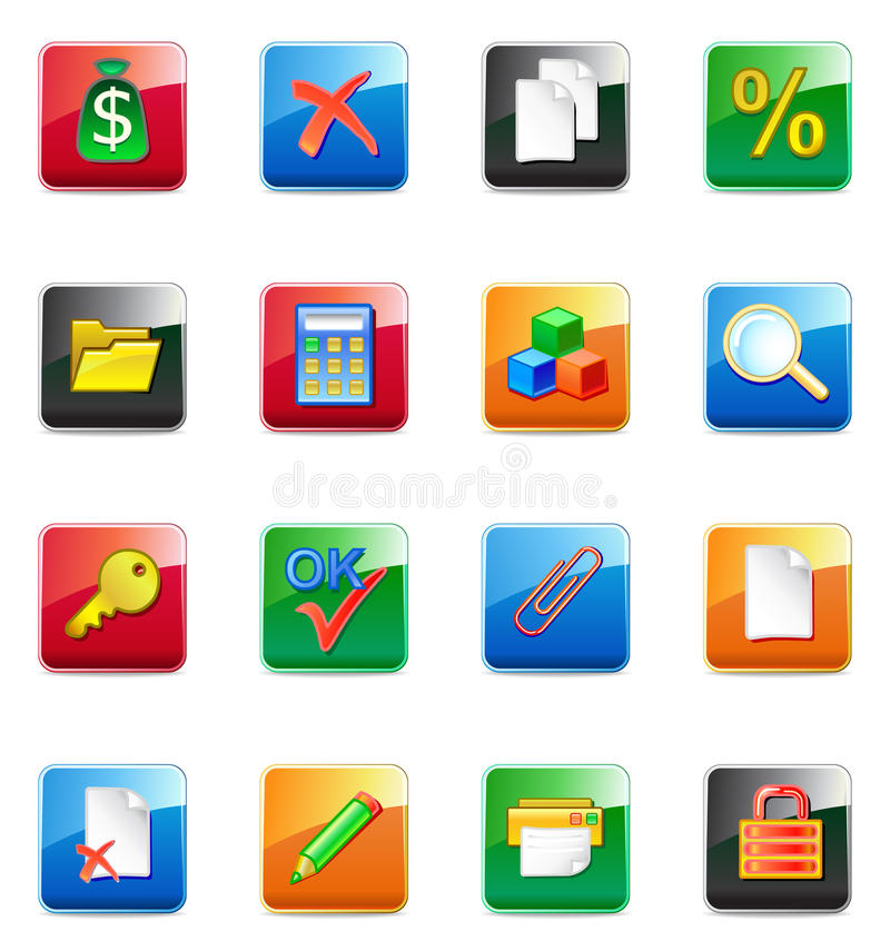 WWW accountant icons vector illustration