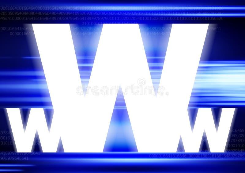 WWW - Achtergrond stock illustratie