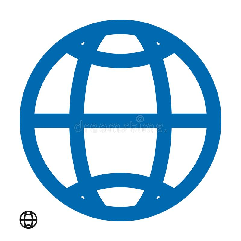 Www address http icon isolated vector eps10. Modern simple flat globe sign. Business internet concept.  Social vector network www stock illustration