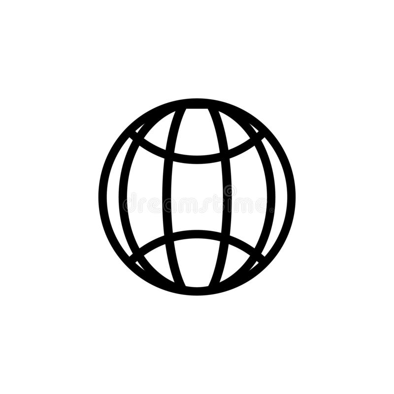 Www address http icon isolated. Modern simple flat globe sign. Business internet concept. Trendy social vector network www vector illustration