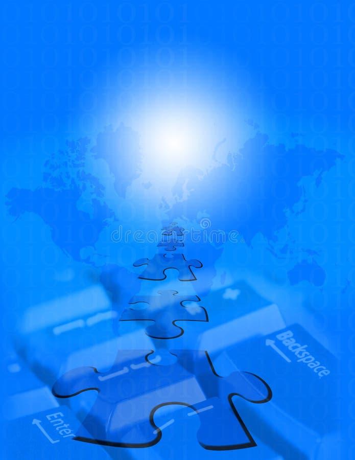 WWW azul ilustração stock