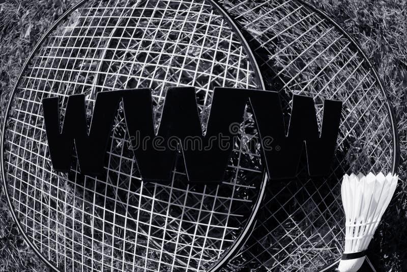 WWW-Badminton stockfoto