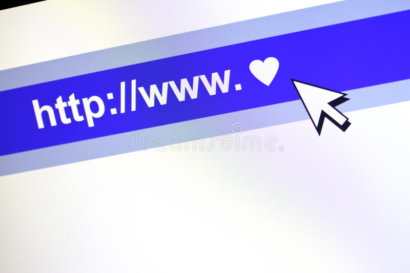 Www Communication Concept With Heart. Royalty Free Stock Photo