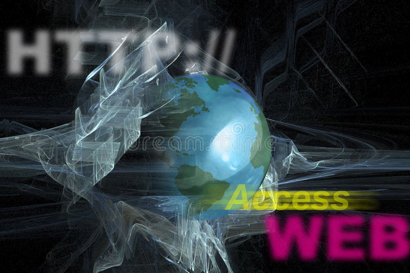 www de Monitor van WebHTTP Internet royalty-vrije stock foto