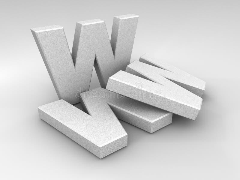 WWW de piedra ilustración del vector
