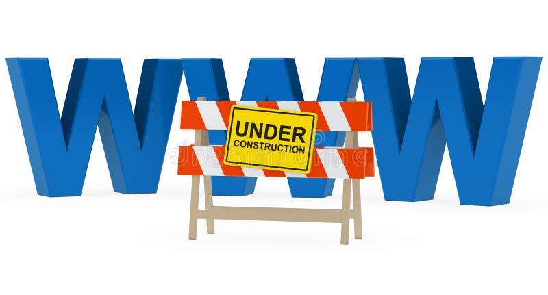 WWW en construction illustration libre de droits