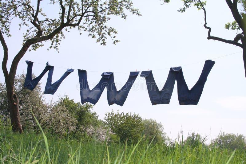 WWW en nature images libres de droits