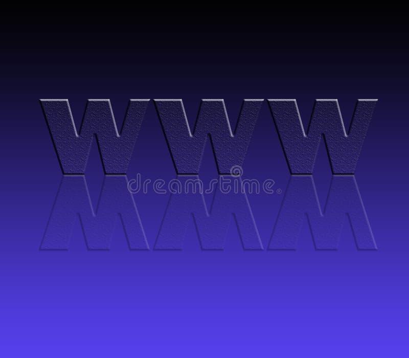 WWW für Web site vektor abbildung