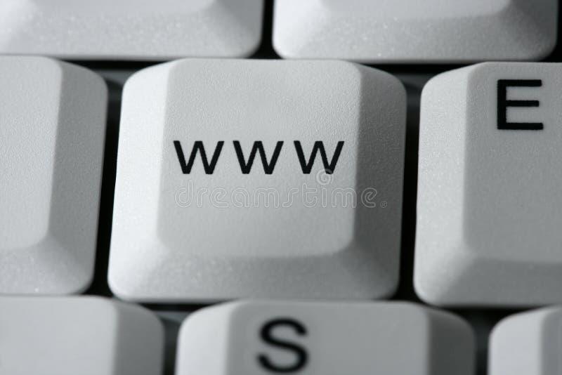 WWW-Fantasietaste auf einem PC-Computer stockfotos