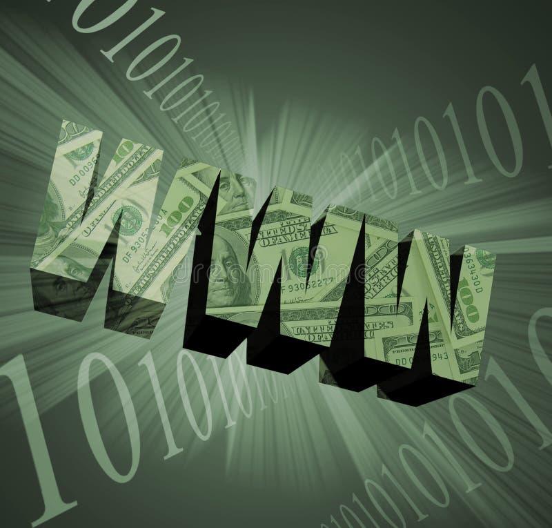 WWW-Geld-Thema lizenzfreie abbildung