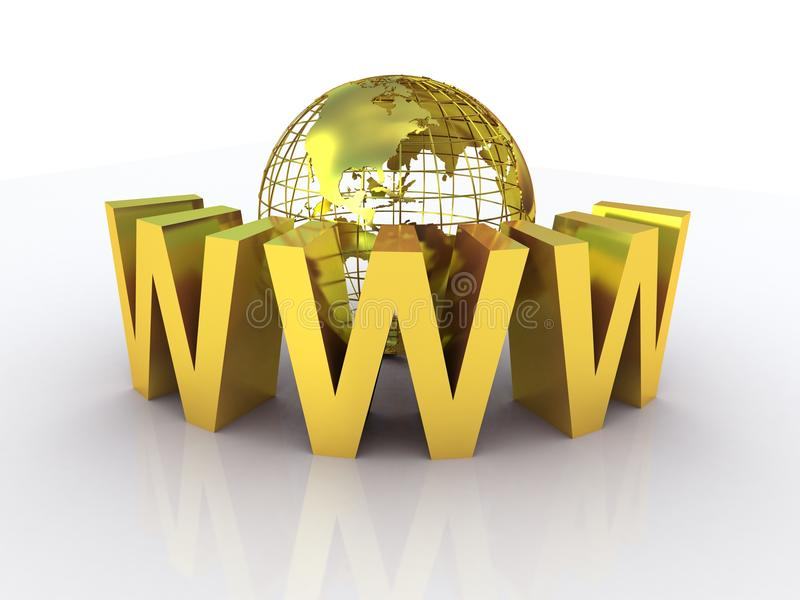 Download WWW And Globe Gold Royalty Free Stock Images - Image: 33170009