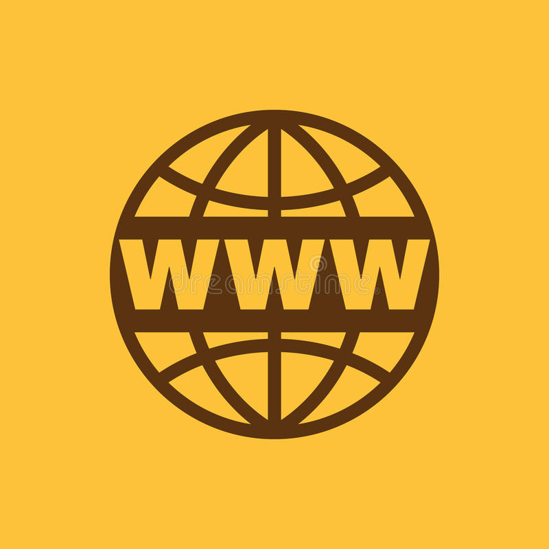 The WWW icon. SEO and browser, development, www symbol. UI. Web. Logo. Sign. Flat design. App. The WWW icon. SEO and browser, development, www symbol. UI. Web vector illustration