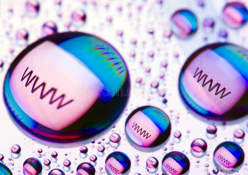 WWW icons. Internet symbols are very popular and they are recognisable all over the world royalty free stock photo