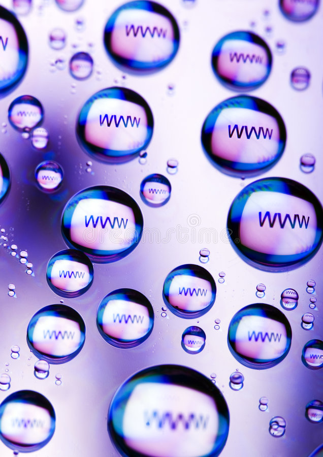 WWW icons. Internet symbols are very popular and they are recognisable all over the world royalty free stock photography