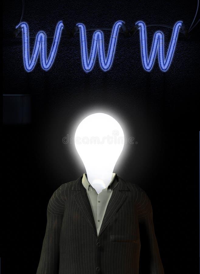 WWW-Ideen-Mann lizenzfreie stockfotos