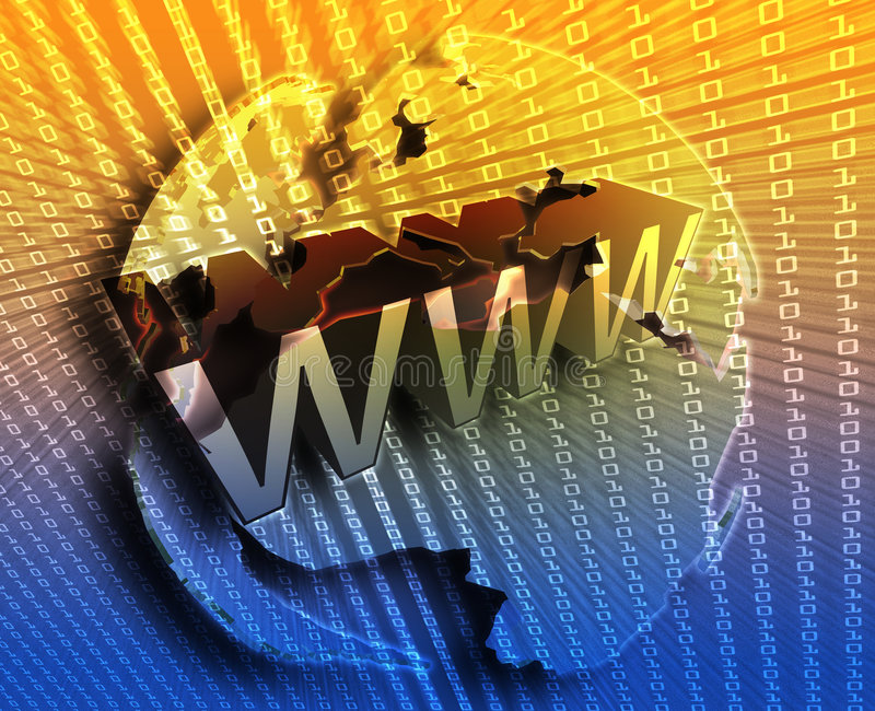 WWW Internet. Online digital abstract wallpaper illustration vector illustration