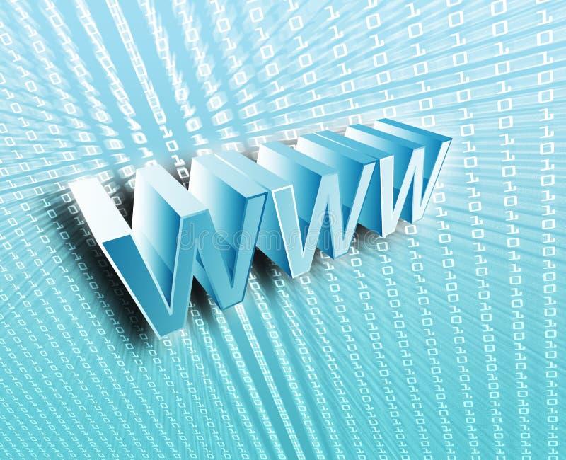 WWW Internet. 3d wording digital collage illustration vector illustration