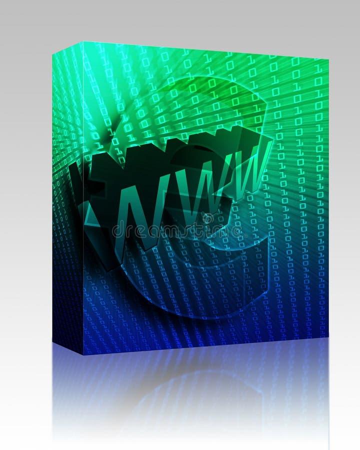 WWW Internet box package stock illustration