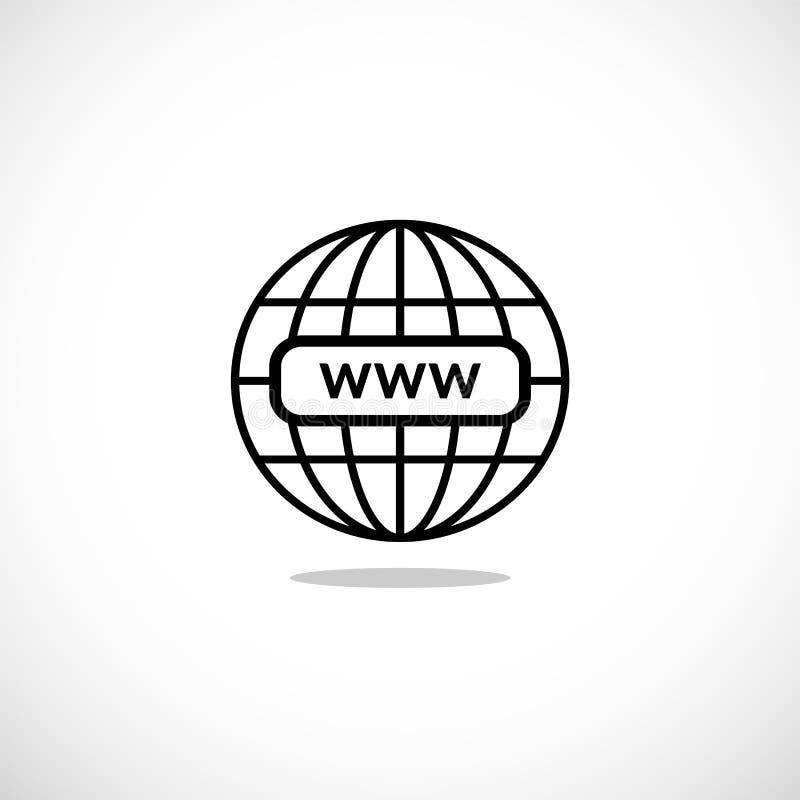 WWW internet favicon stock illustration