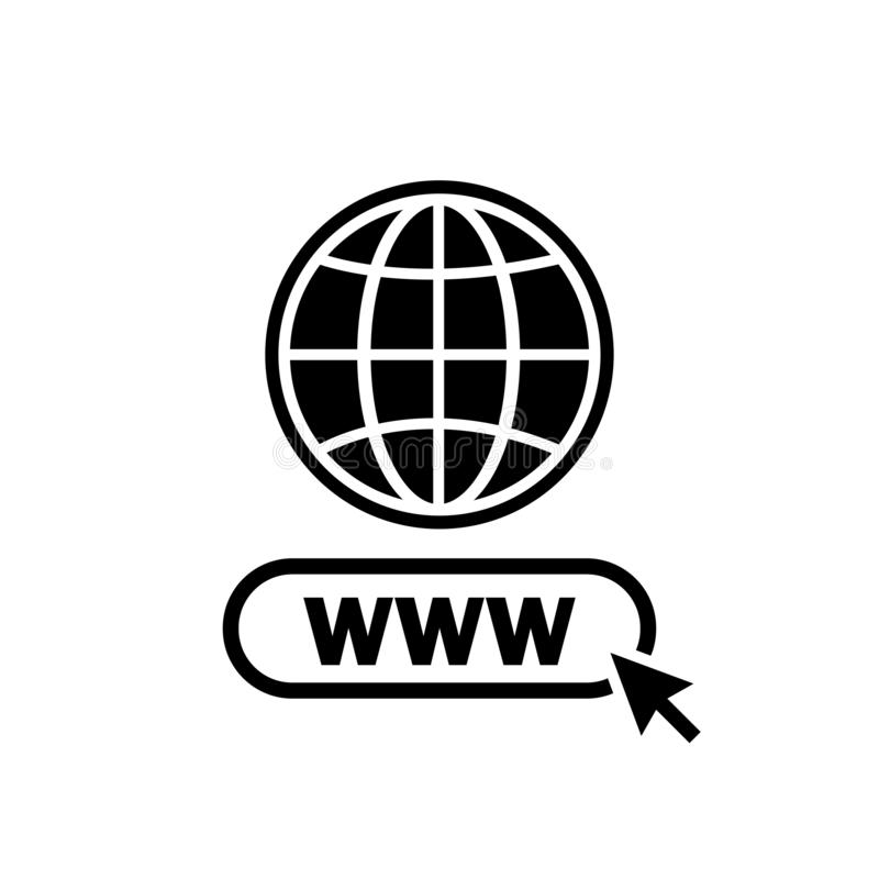 Free Www. Internet Icon. Www Search Bar Icon. Website Icon Stock Photo - 148122440