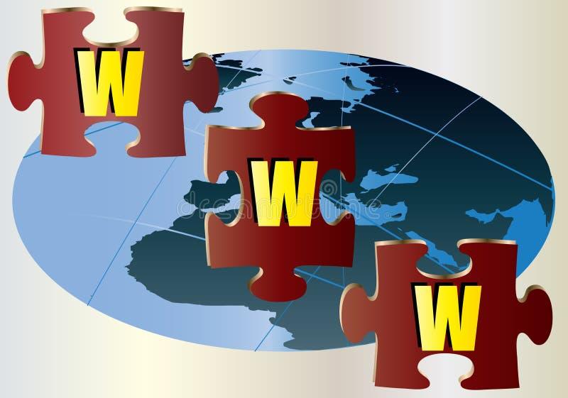 WWW Jigsaw Puzzle Royalty Free Stock Photo