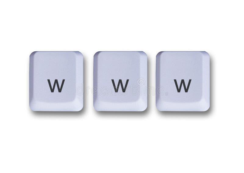 Www keys concept stock photo