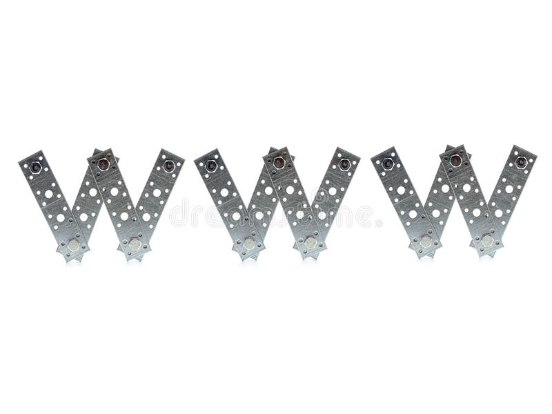 Download WWW letters stock photo. Image of three, white, bolted - 24221256