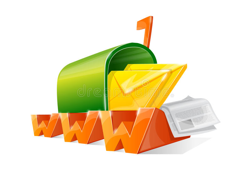WWW-Mailbox lizenzfreie abbildung