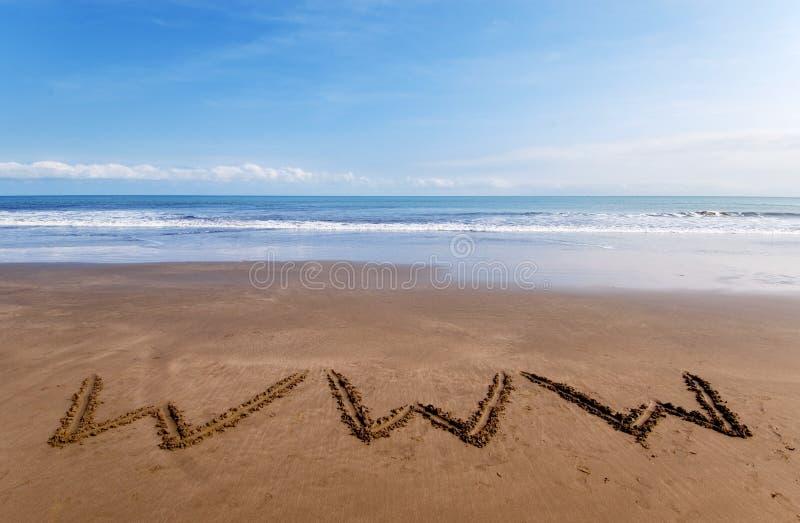 WWW na areia 2 fotos de stock royalty free
