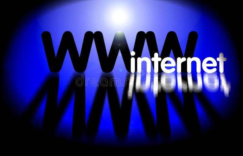 WWW - tecnologia do Internet ilustração stock