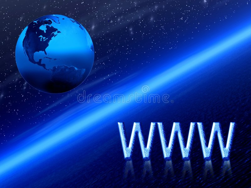 WWW. Terra illustrazione di stock