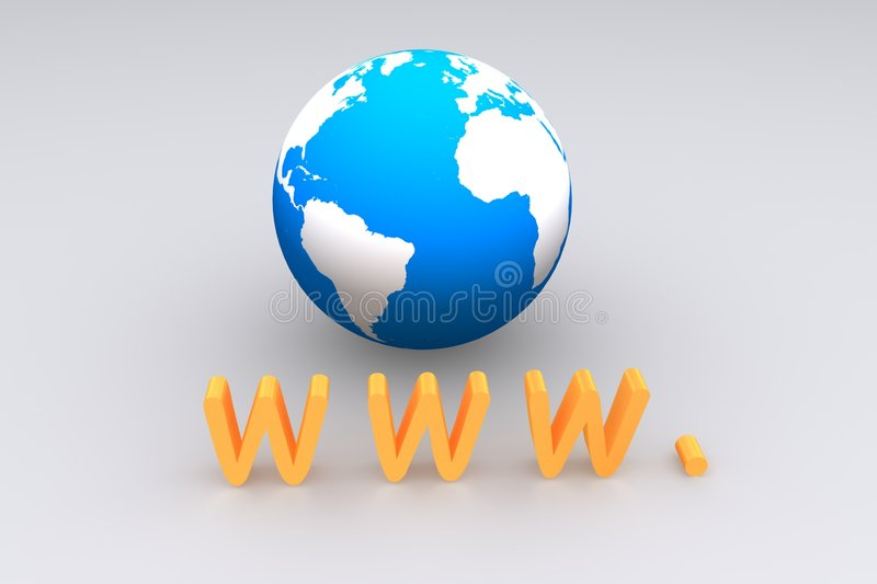 Download Www text stock illustration. Image of earth, yellow, background - 6432830