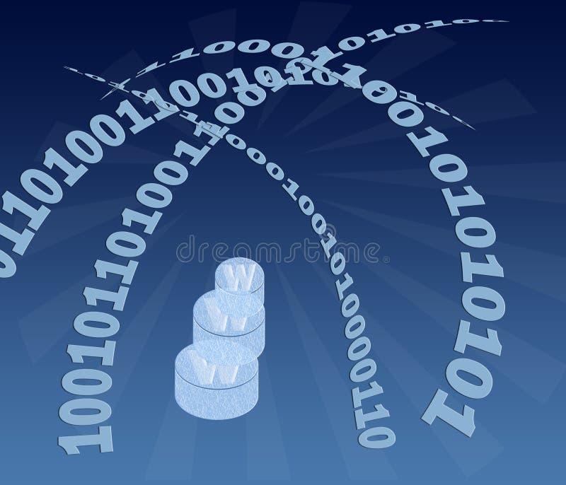 WWW und digitaler Code vektor abbildung