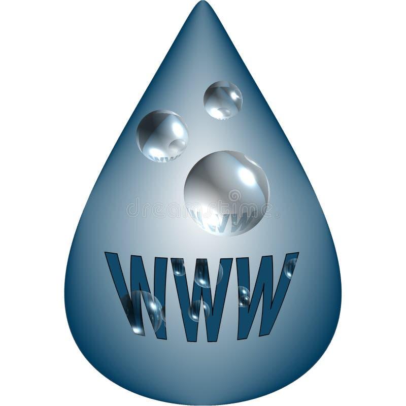 WWW-Wassertropfen-Auslegungelement stock abbildung