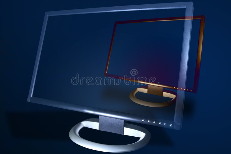 www web http internet Monitor royalty free stock images