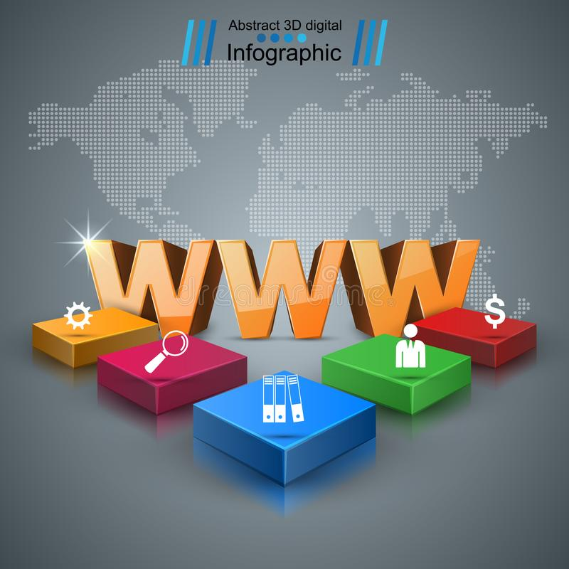 WWW, web, Internet - negocio infographic libre illustration