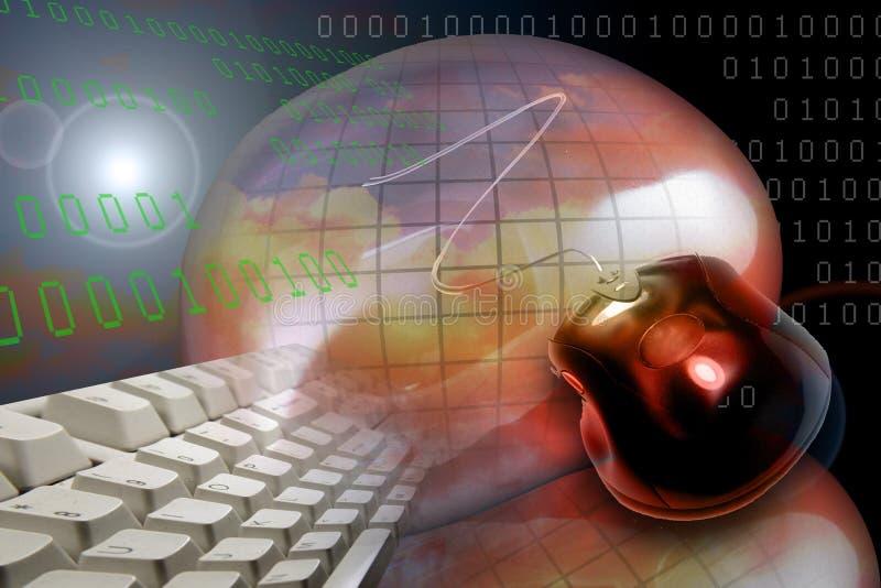 www WebInternet het HTTPscherm vector illustratie