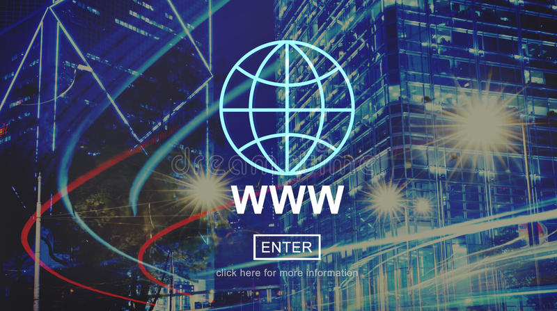 WWW Website Internet Network Connection Social Concept royalty free stock images