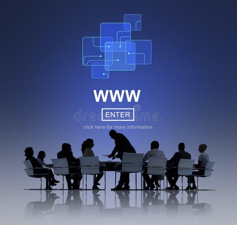 WWW Website Online Internet Web Page Concept stock images
