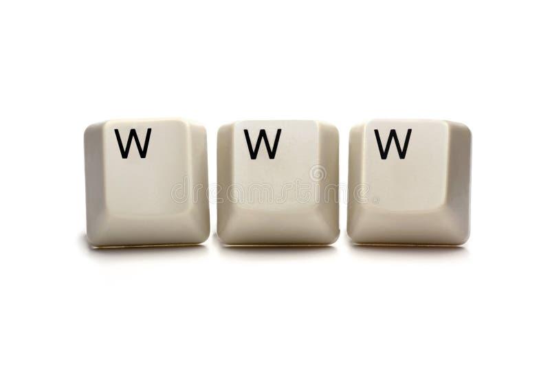 WWW - World Wide Web imagens de stock