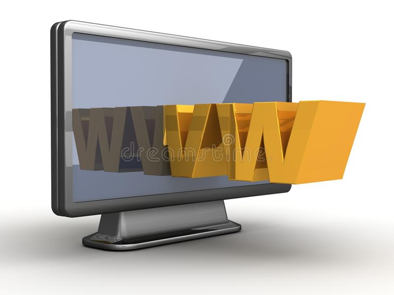 Download WWW in your TV stock illustration. Image of latest, technology - 26084311