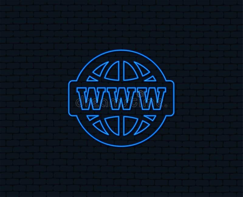 WWW znaka ikona symbol sieci szeroki świat ilustracji