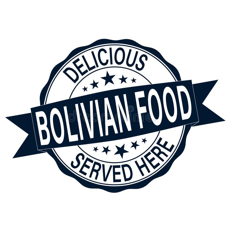 Wyśmienicie bolivian jedzenie słuzyć tutaj wokoło starej pieczątki ilustracji